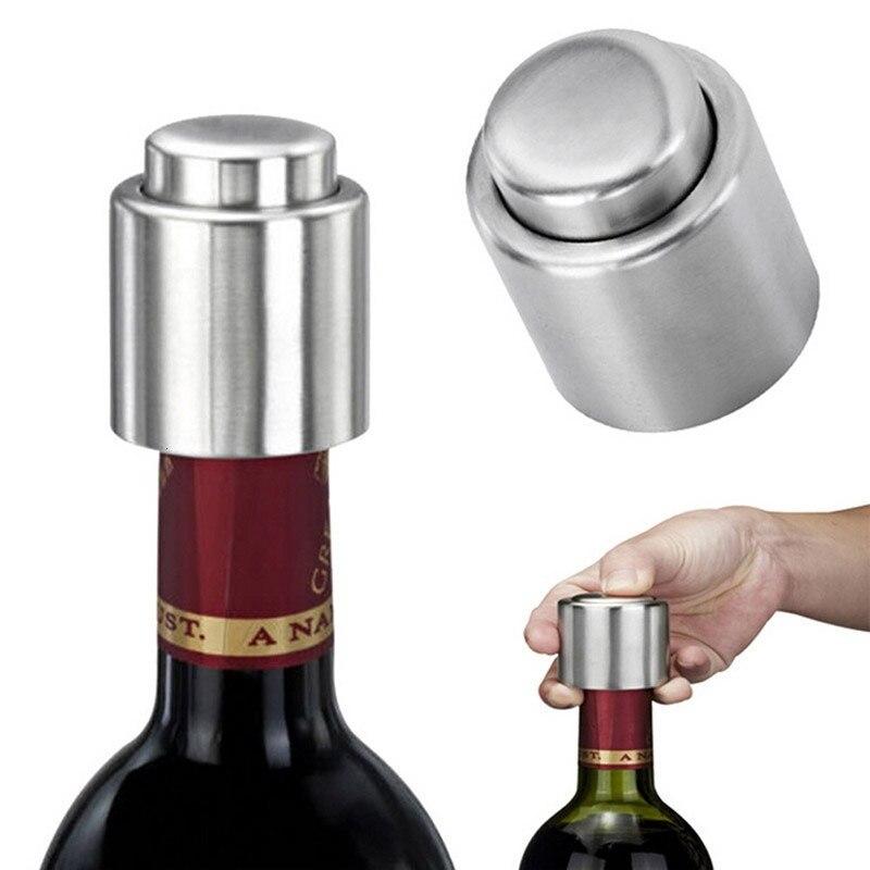 Tapón de vino tinto, tapón sellado para botella de cerveza, sellador de tapas, tapón de cocina para mantener al vacío, accesorio de barra