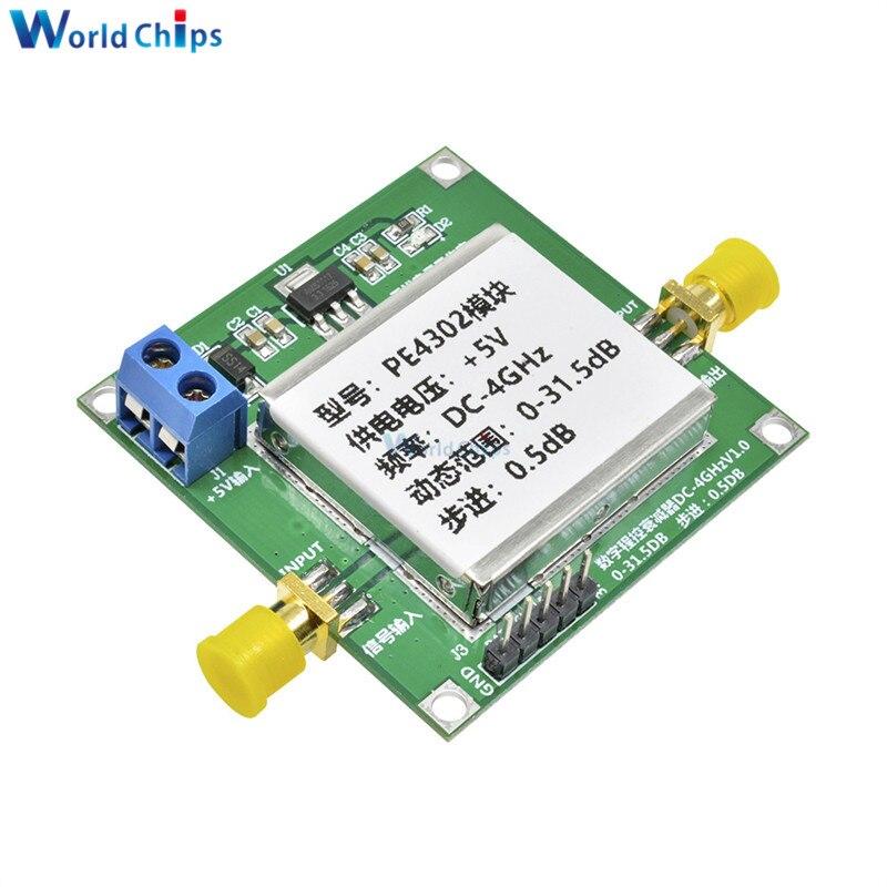 Módulo atenuador de paso RF Digital PE4302 módulo RF alta linealidad DC 4ghz 0-31.5db 0.5dB paso de alta frecuencia 5V CC alta linealidad