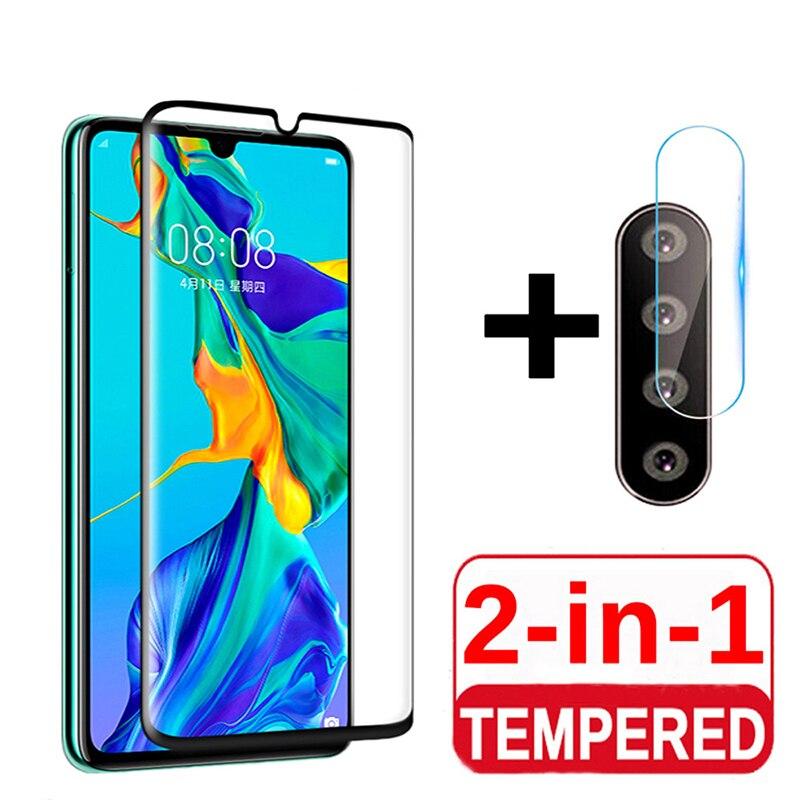 Película transparente 2 en 1 9D HD para OPPO Realme C2 5S 2 X2 Pro, Protector de pantalla para lente de la cámara trasera, película de cristal templado antiarañazos