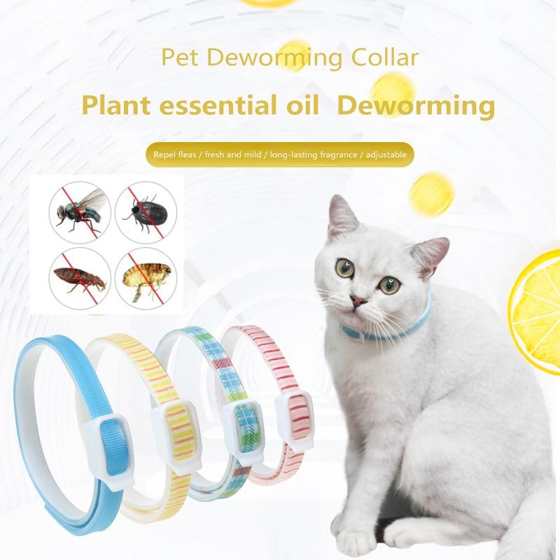 New Flea and Tick Collar Pet Flea Collar Puppies Dogs Lice Insect Repellent Flea Circle Cat Essential Oil Flea Collar