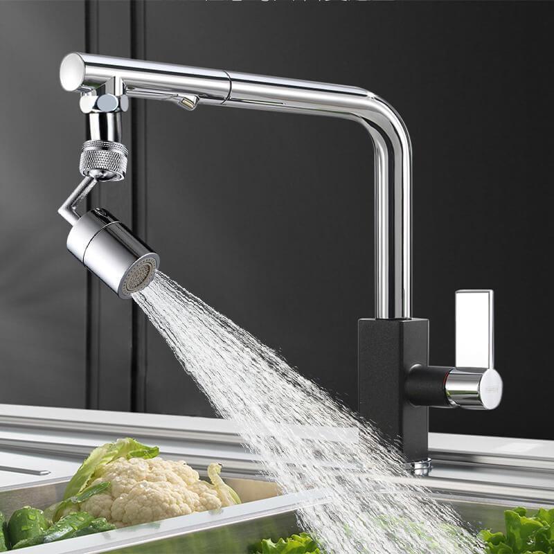 720°Universal Splash Filter Faucet Spray Head Anti Splash Filter Faucet Children Movable Kitchen Tap Water Saving Nozzle Sprayer