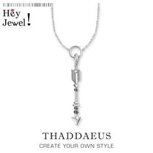 Ожерелье со стрелой и шармами, филигранные ювелирные изделия из серебра 2019 пробы в европейском стиле, подарок для женщин и девушек, зима 925