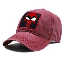 Deadpool Skull Cartoon Snapback Hat Unisex Cotton Baseball Caps Breathable Sunscreen Riding Hats Outdoor Hip Hop Baseball Cap