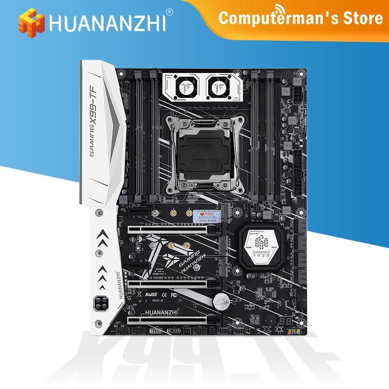 HUANANZHI X99 TF X99 Motherboard Intel XEON E5 LGA2011-3 All Series DDR3 DDR4 RECC NON-ECC memory dual NVME Server workstation