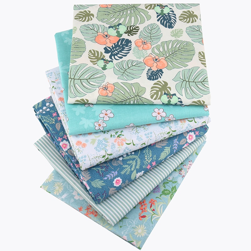 Nanchuang, tecido de algodão sarja, 6 pçs/lote flores, diy, costura, acolchoado, bebê & criança, quartos de gordura, patchwork, material têxtil 40cm x 50cm