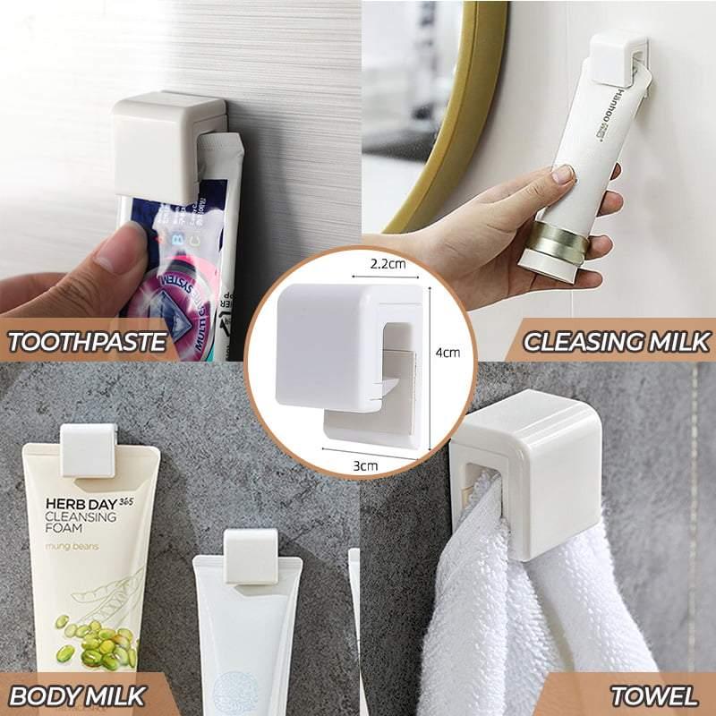 Фото - Многофункциональный держатель для зубной пасты, органайзер для ванной комнаты, полка, подставка, аксессуары для ванной комнаты, самоклеяща... электрическая самоклеящаяся подставка для ванной комнаты
