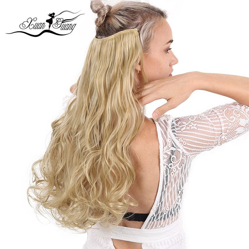 Pelo Rizado sintético de fibra XUANGUANG, 5 Clips en extensiones, piezas de pelo rizado para niñas, niños y mujeres, resistente al calor