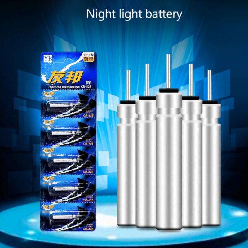 5 pçs/set Baterias Para Eletrônico Enfrentar Bóia De Pesca Bóia De Pesca Bateria De Lítio Pin CR-322/CR-425/CR-435