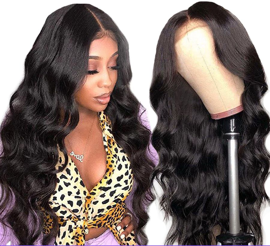 Lace Front Human Hair Wigs Peruvian Body Wave 13X4 Lace Frontal Wig For Black Women Remy Dorisy Hair