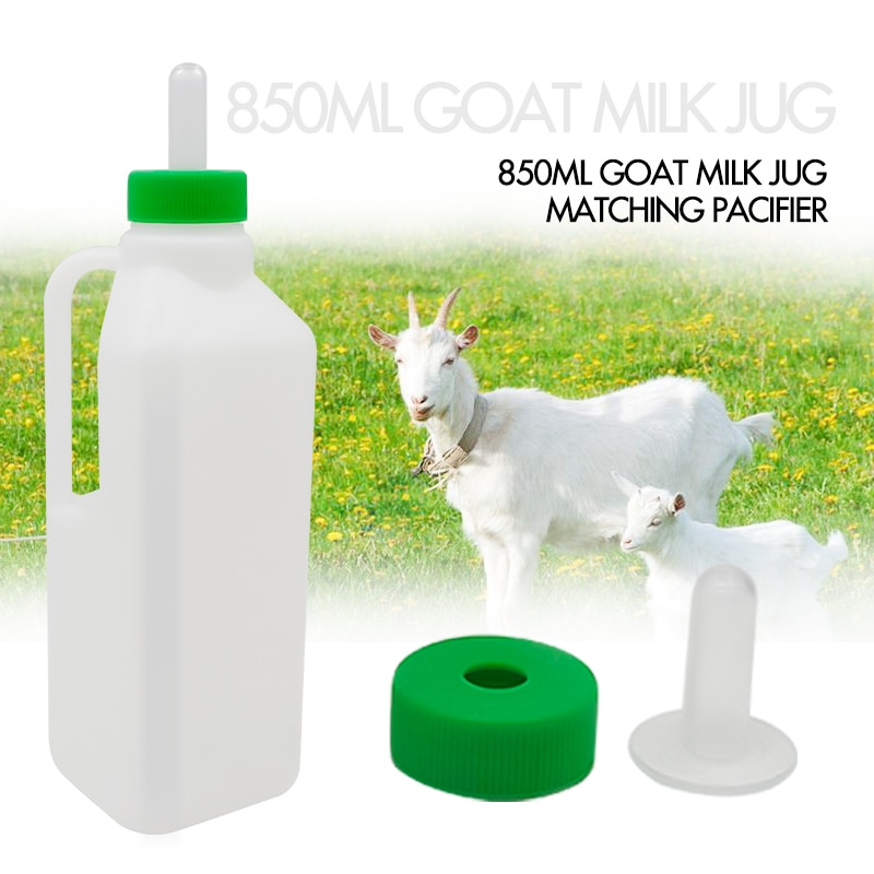 1Pcs Milk Lambs Feeder Bottle 850Ml Baby Lamb Pet Drinker Drinking Feeder Feeding Tools No Leakage Ergonomic Handle Lamb Feeding