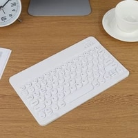 round keycaps bluetooth compatible multi device tablet rubber keycaps rechargeable keyboard for ios android phone tablet pc