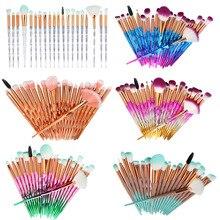 20Pcs Diamond Makeup Brushes Set Powder Foundation Blush Blending Eye shadow Lip Cosmetic Beauty Make Up Brush  dfdf