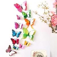 Autocollants papillon 3D avec aimant  ensemble de pieces  couleurs assorties  decoration murale de refrigerateur  decor de maison  decalcomanie dart avec aimant  aleatoire  elegant