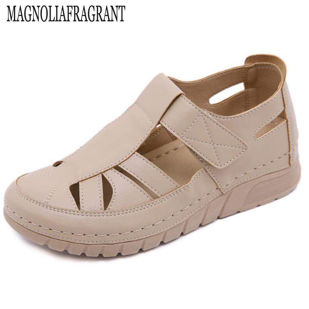 حذاء نسائي صيفي غير رسمي بخيوط خياطة ، حذاء نسائي فضفاض بفتحات ، hy936 ، 2020