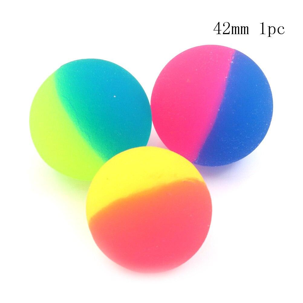 1 Uds de color/42/45/55mm lindo juguete de los niños bola chico bola deporte juegos elástico saltando pelotas de juguete al aire libre