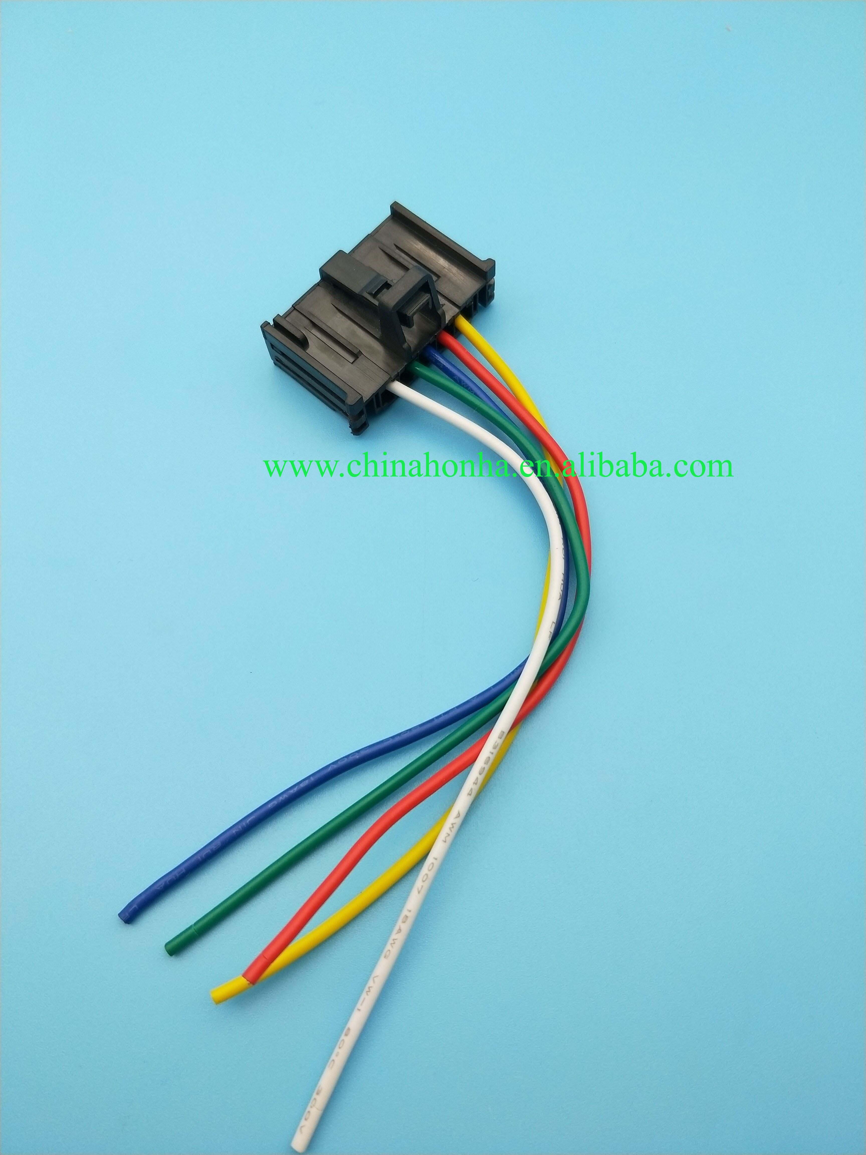Conector hembra de 5 pines para el ventilador del motor del ventilador de la resistencia del ventilador 13248240 6450XR