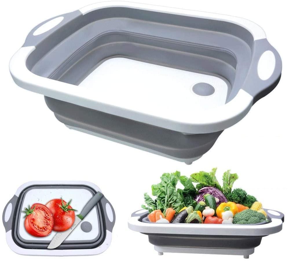 Lavabo plegable para el hogar, cesta de fregadero portátil, Cubo de pie,...