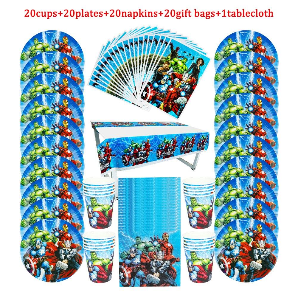 81pcs-the-avengers-stoviglie-usa-e-getta-per-bambini-festa-di-compleanno-piatto-di-carta-tazza-tovagliolo-sacchetti-di-caramelle-regalo-tovaglia-forniture-per-i-bambini