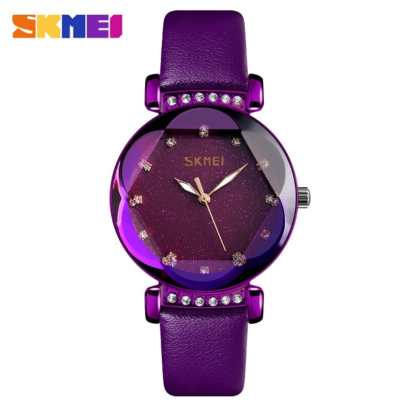 SKMEI Fashion Women Watches Quartz Sport Ladies Watch Stainless Steel Strap 3Bar Waterproof Watches Reloj Mujer Zegarki Damskie