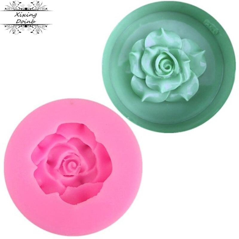 Xixing 3D красивые розы инструменты для украшения шоколадного торта DIY fondant силиконовая форма для украшения свадебного торта Цветы Мыло Форма