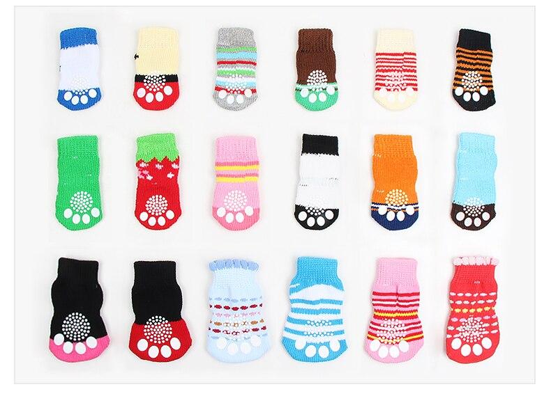 Calcetines antideslizantes de algodón para Perro, calcetín de moda para Perro, de...