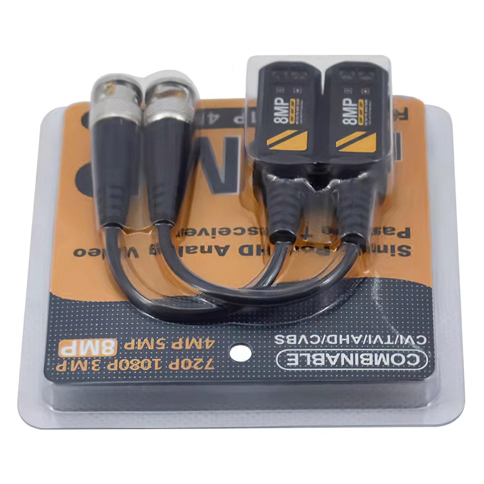 Пассивный видеоразъем CVBS AHD CVI TVI UTP 4 в 1, видео балун, коаксиальный, высокое разрешение, передатчик с витой парой UTP видео