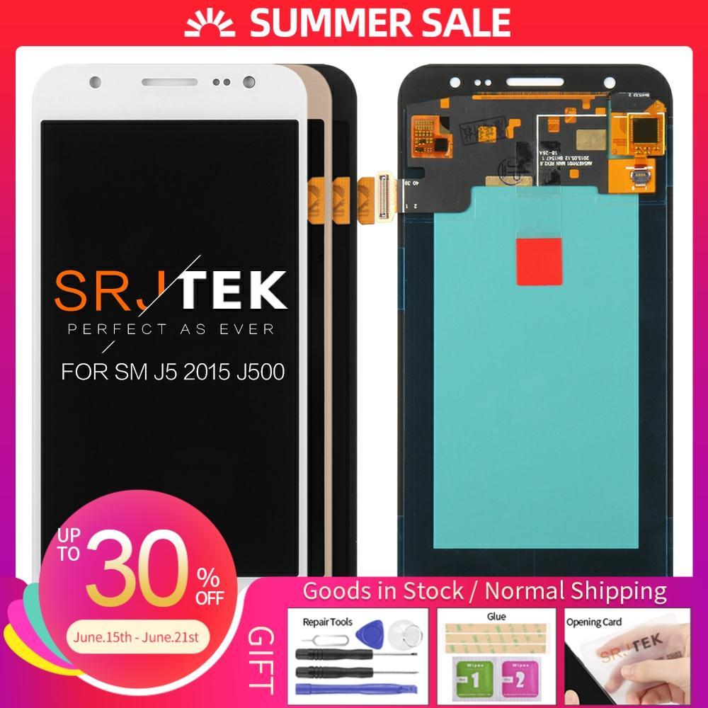 Pantalla LCD TFT/OLED para SAMSUNG Galaxy J5 2015 J500 J500H J500FN J500F J500M SM-J500F digitalizador de pantalla táctil