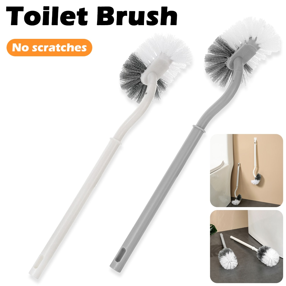 Toilet Brush Flexible Soft Bristles Plastic Long Handle No Dead Ends Toilet Cleaning Brush Bathroom Cleaning Tool Dropshipping brush scraper avs wb 6328 52 cm soft handle распушенная bristles 2 surface