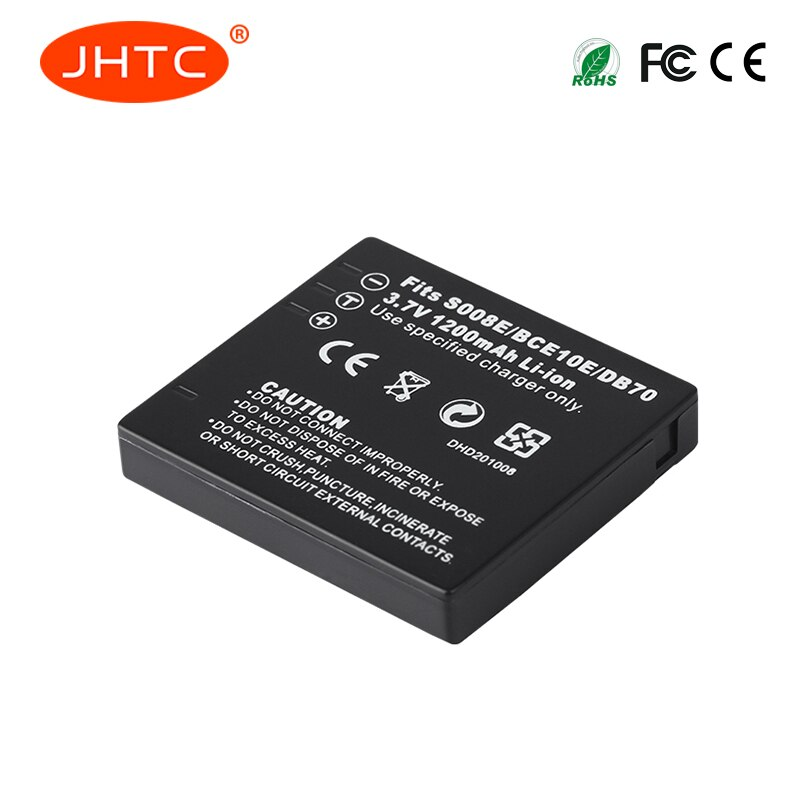 Bateria CGA-S008A/DMW-BCE10/DB70 Batterie para Panasonic DMC-FS3 FS5 FS20 FX30 FX33 FX35 FX36 FX37 FX38 VW-VBJ10 1200mah