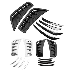Front Bumper Spoiler Air Knife Fog Light Frame Cover Stickers Trim for Mercedes Benz GLC Coupe 2020 2021