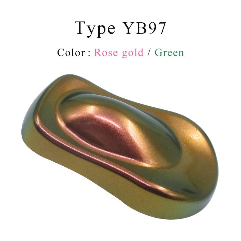Pigmentos de camaleón YB97, pintura acrílica en polvo, pintura de camaleón para coches, manualidades automotrices, pintura decorativa para uñas, 10g