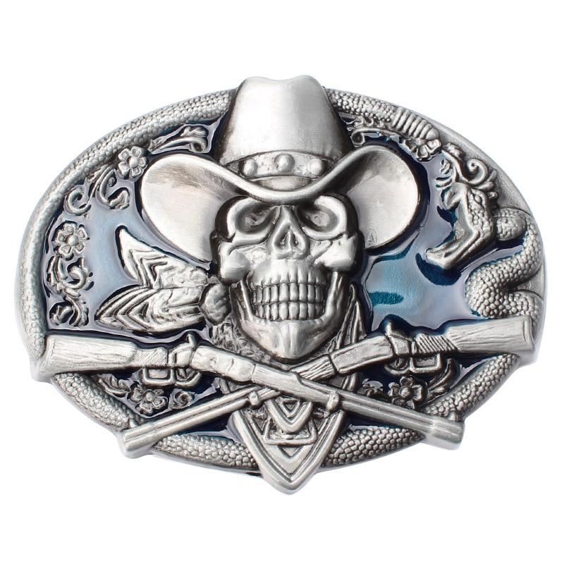 rock style Skull skeleton belt buckle Belt DIY accessories Western cowboy style Smooth belt buckle Punk rock style Ghost Rider