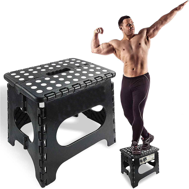 Сверхпрочный складной ступенчатый стул легкий складной стульчик-ступенька достаточно прочный, чтобы поддерживать взрослых и достаточно б...