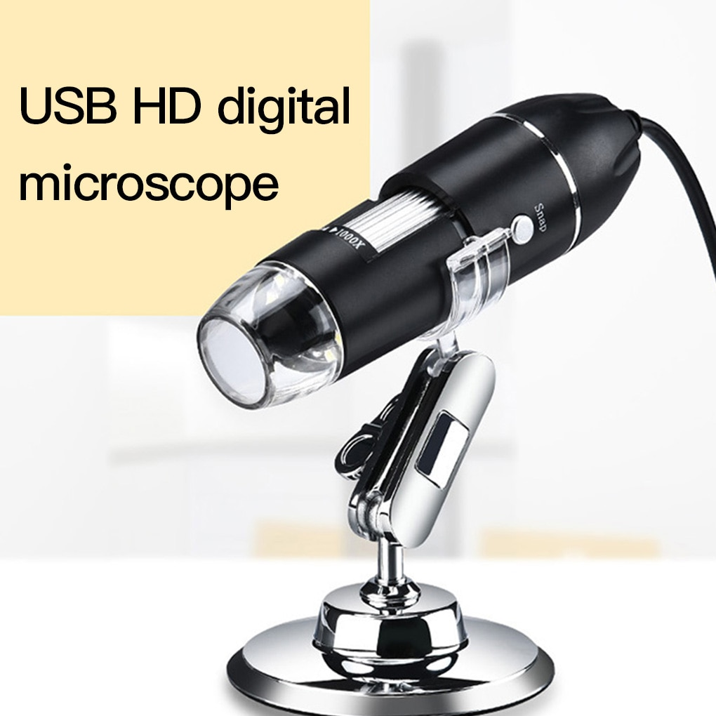 Adjustable 1600X 2MP 8 LED Digital Microscope Type-C/Micro USB Magnifier Electronic Stereo USB Endoscope For Phone PC