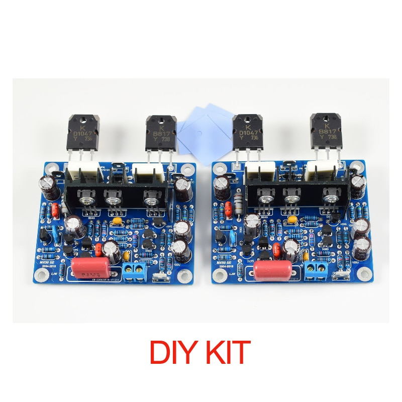 2 pc/pacote mx50 se amplificadores estéreo de alta fidelidade 100wx2 canais duplos placa amplificador potência áudio kit diy