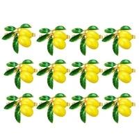 12 pieces lemon napkin rings summer fruit serviette buckle holder summer napkin rings dinner napkin holder for partyetc