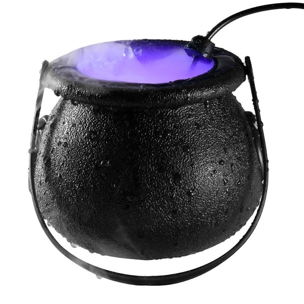 Halloween bruja frasco atomizador lámpara LED humidificador Color cambiante decoración espeluznante Halloween fiesta Prop DIY escena diseño de broma juguete nuevo