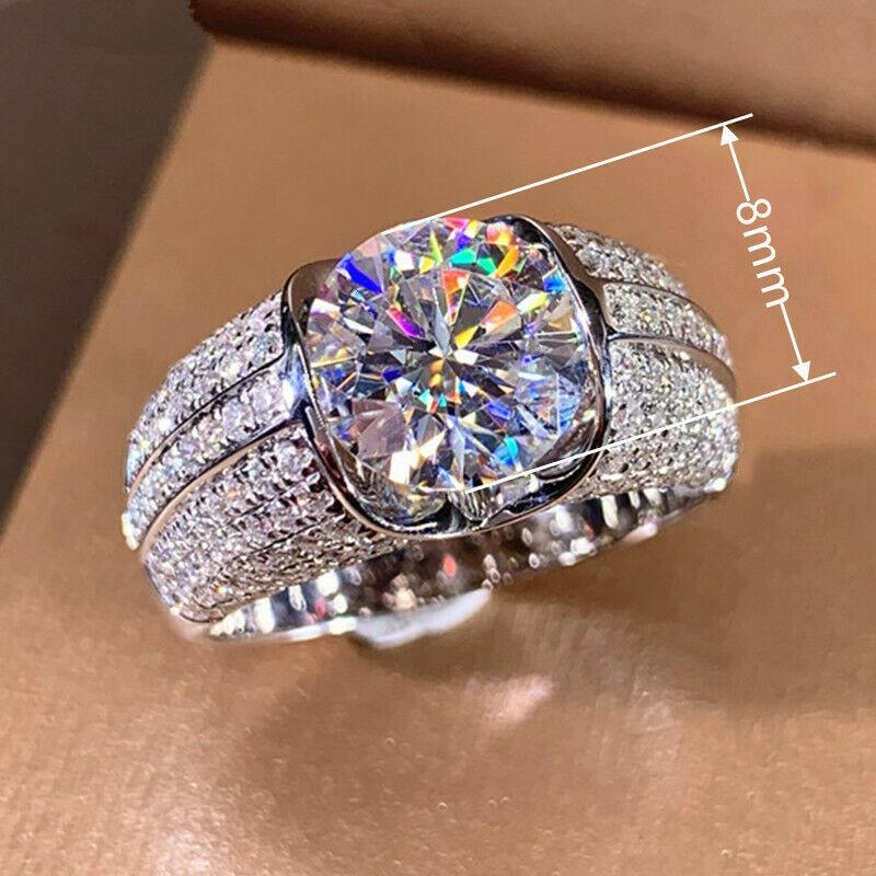 Роскошный модный прозрачный кристалл элегантное кольцо для женщин юбилей вечерние ювелирные изделия для помолвки подарок
