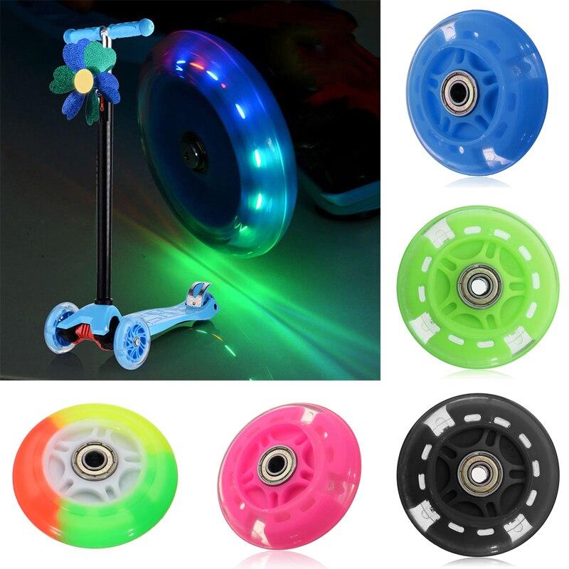 Мигающее колесо, прочное колесо, заднее Макси 80 мм для детей, автомобильные игрушки, микро Рождественский скутер, автомобильный фонарь, мига...
