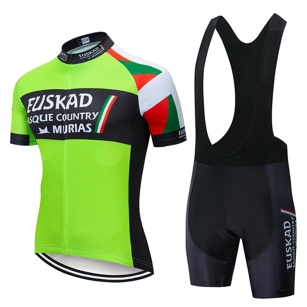 EUSKADI 2020 nueva camiseta de Ciclismo de manga corta de verano Culote transpirable con tirantes ropa de bicicleta secado rápido ropa de Ciclismo Maillot