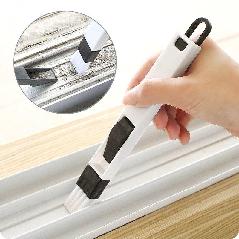 2 In1 Многофункциональный компьютерный окна щетка для очистки стекла паз очиститель клавиатуры уголок пыли лопата окна трек очиститель
