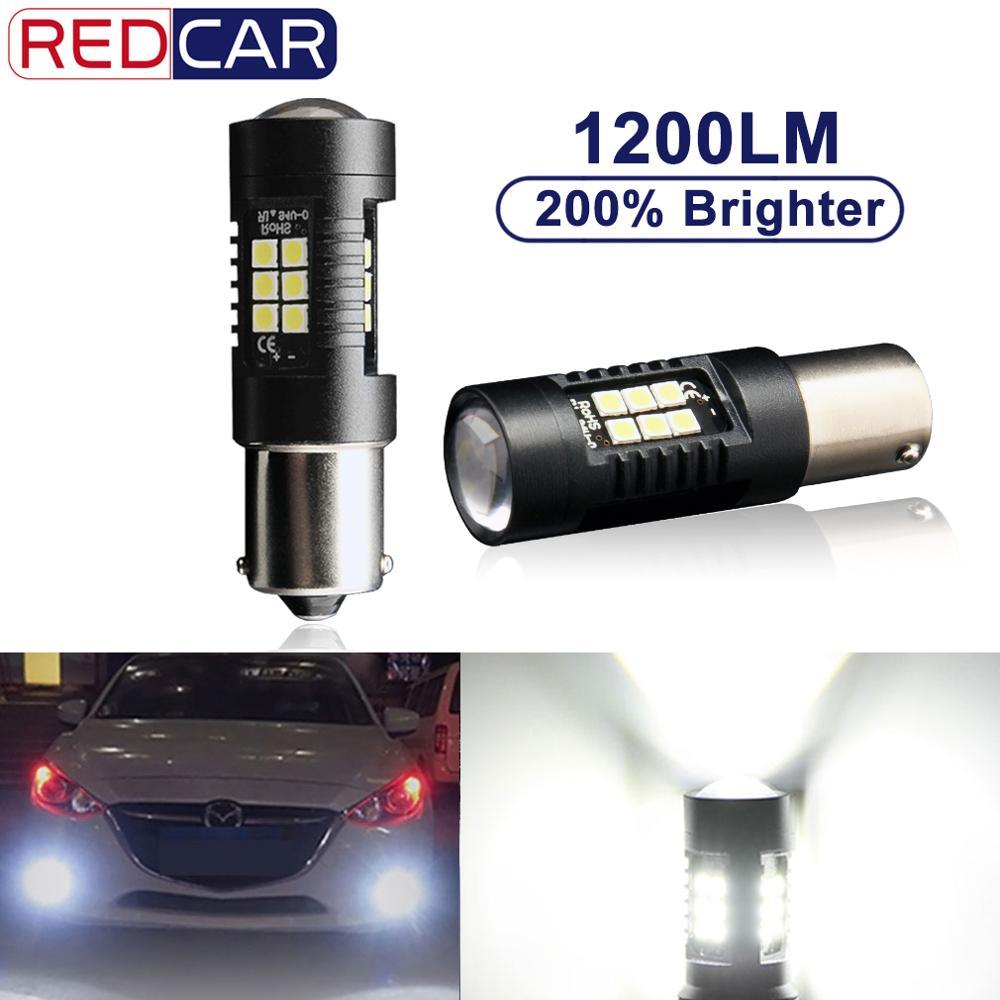 2Pcs P21W LED 1156 BA15S BAU15S PY21W LED Bulb 1157 BAY15D P21/5W R5W 21pcs 3030SMD Auto Lamp Bulbs Car LED Light Turn Signal
