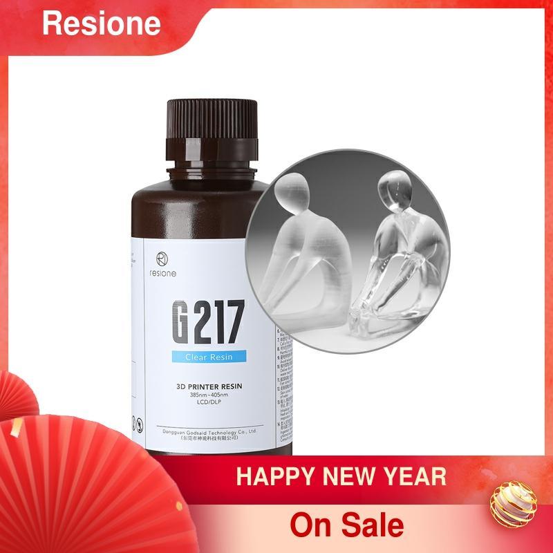 Resione G217-0,5 kg Dental Nicht Vergilbung Klar 3D Drucker Harz Für Elegoo Anycubic Phrozen SLA DLP LCD UV 405nm Harz Drucker