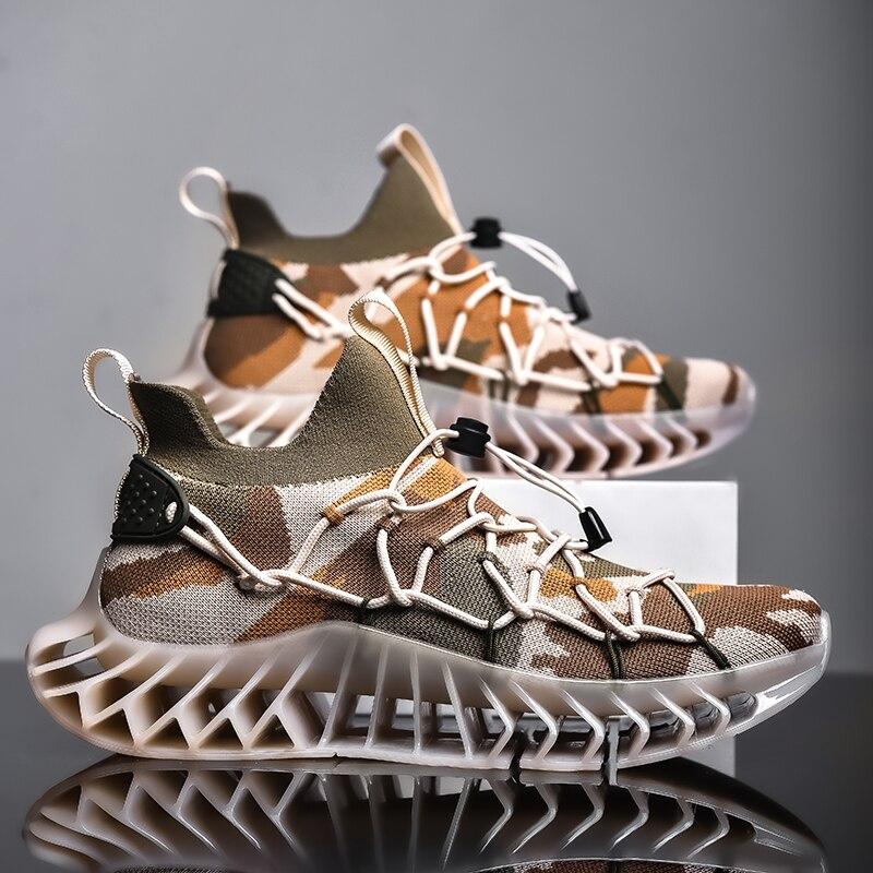 New Blade Sock Shoes Men Hard-Wearing Casual Sneakers Women Height Increasing Chunky Footwear Flying Weaving Breathable Zapatos