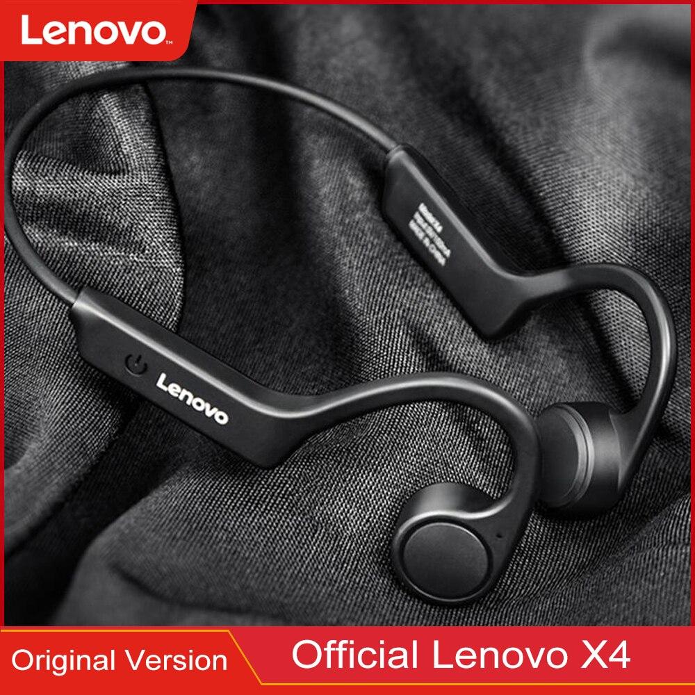 الأصلي لينوفو X4 العظام التوصيل اللاسلكية سماعة سماعة بلوتوث مقاوم للماء تشغيل ستيريو الصوت الرقبة الرياضة سماعة