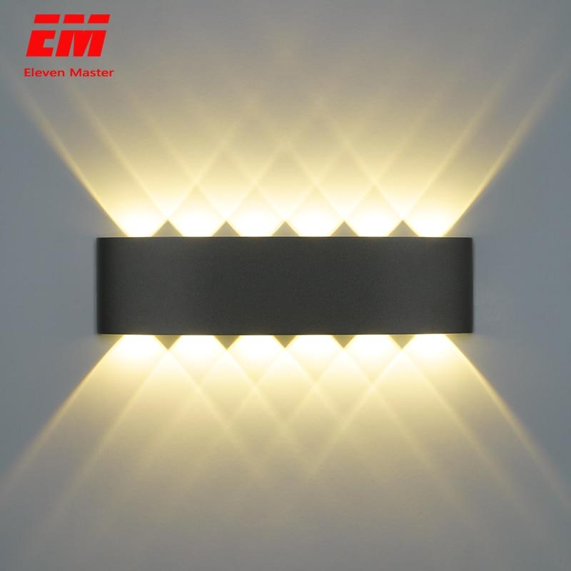 Скандинавский настенный светильник Ip65 Led алюминиевый наружный вверх вниз настенный светильник современный для дома лестницы спальни прикр...