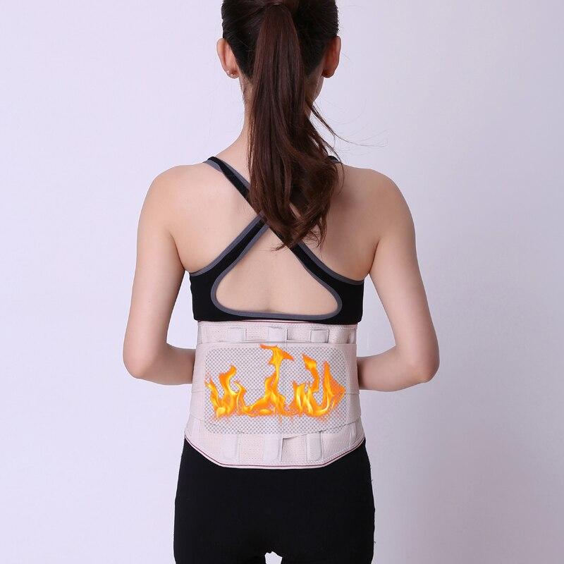 Cinturón de cintura turmalina para hombre y mujer, cinturón de cintura de neopreno, soporte de espalda baja, soporte de madera Blet deportiva M/L/XL/XXL