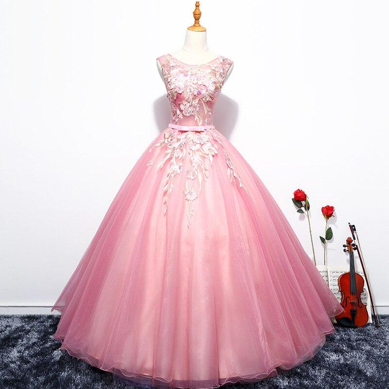 Partido Quinceanera Dresses 2019 Tulle Apliques vestido de Baile vestido de Baile Ilusão Sexy Até O Chão Colher Vestidos De 15 Años