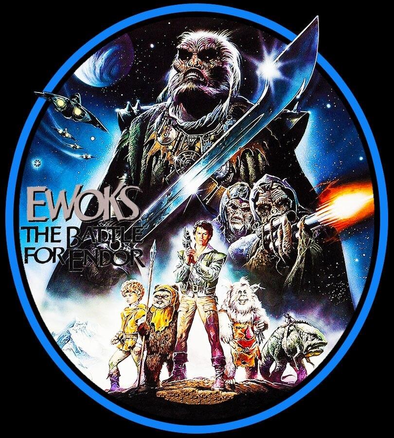 80 s TV clásico Ewoks batalla para Endor Poster arte personalizado tee cualquier tamaño