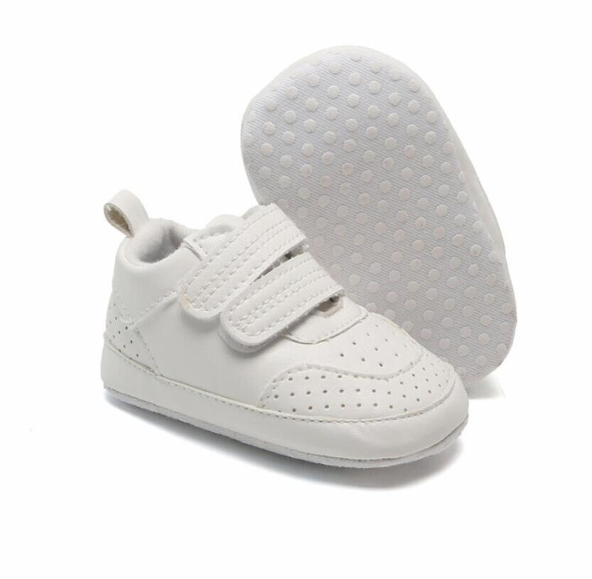 2021 Best Selling Fashion Baby Boys/Girls Toddler Shoes PU Leather Soft-Soled Anti-Slip Newborn Sneakers